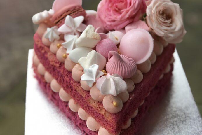 Sweet valentine taart